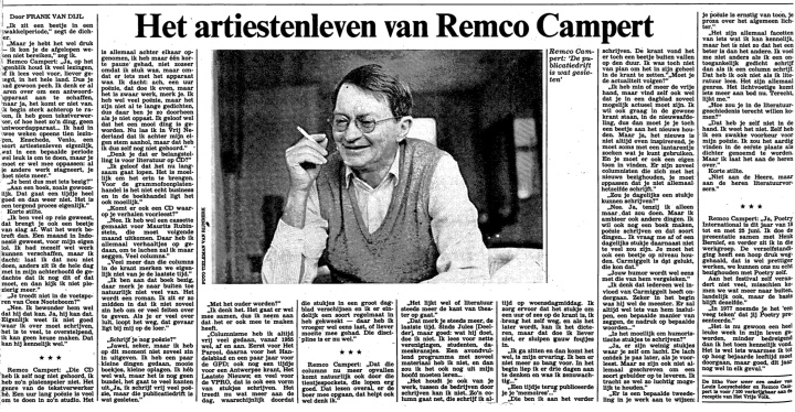19880225 HVV Interview Remco Campert