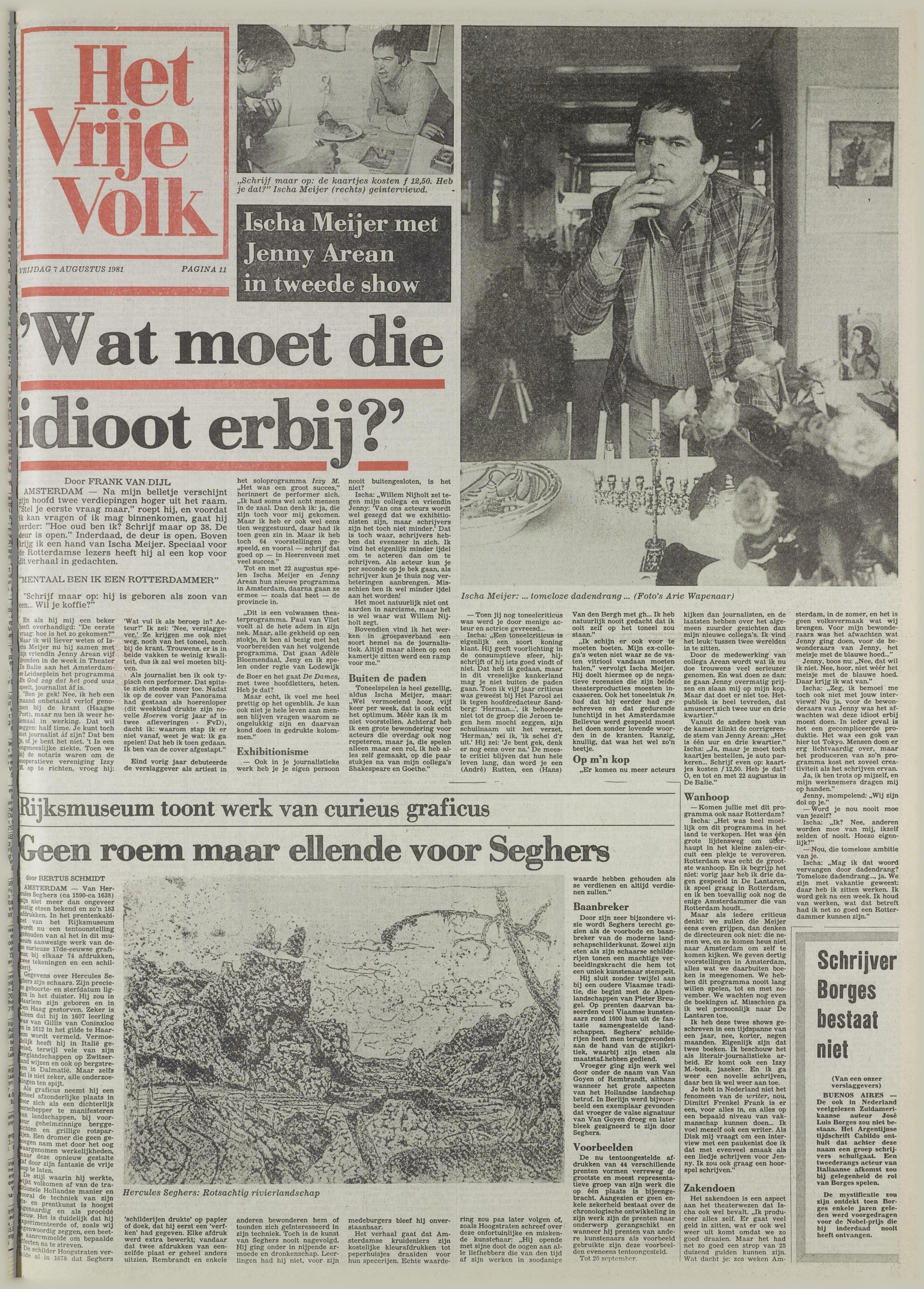19810907 HVV Interview Ischa Meijer